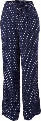 Rafaella Women's Polkadot Print Pull-On Fluid Pant