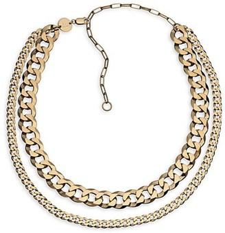 Jennifer Zeuner Jewelry Dale 14K Goldplated Double-Layer Necklace