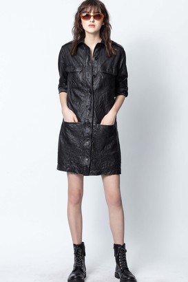 Zadig & Voltaire Rexy Crinkle Leather Dress