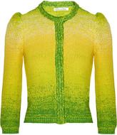 Hand-knitted silk cardigan