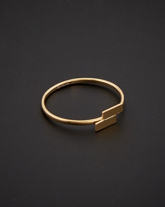 Italian Gold 14K Petite Double Bar Ring