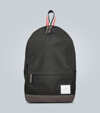 Thom Browne Suede-trimmed canvas backpack