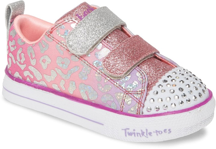 Twinkle Toes Shuffle Lite Glitter Light Up Sneaker