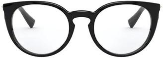 Valentino Eyewear Round Cat Eye Frame Glasses