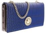 Versace Ee3vobpn1 E202 Blue Wallet On A Chain.