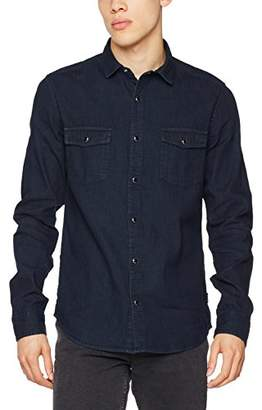 ONLY & SONS Men's Onse Ls Slim Denim Shirt Noos Casual Black, X-Small