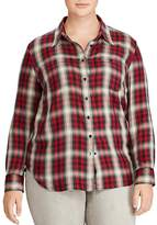 Lauren Ralph Lauren Plus Plaid Button-Down Top