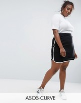 Asos Mini Skirt with Dolphin Hem