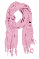LoveQuotes Scarves Love Quotes Linen Knotted Fringe Scarf in Primrose