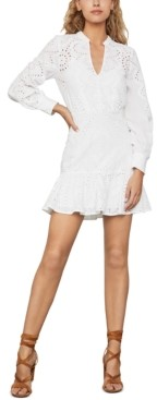 BCBGMAXAZRIA Eyelet Flounce Dress
