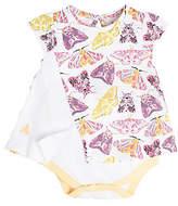 Baby Desert Moths Organic Cotton Bodysuit Dress