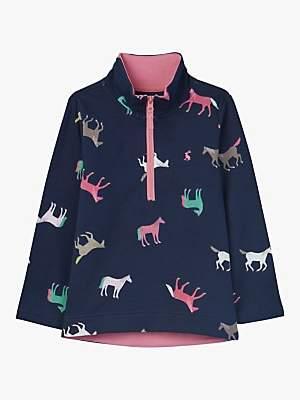 Joules Little Joule Girls' Horse Print Fairdale Sweatshirt, Blue