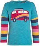 Frugi TABBY APPLIQUE Long sleeved top blue