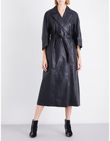 Jil Sander Delfi leather coat