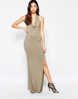 Love Cowl Neck Halter Dress