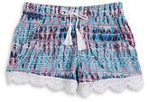 Imperial Star Girls 7-16 Girls Crochet Trim Shorts