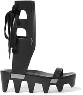 Rick Owens Lace-up paneled leather sandals