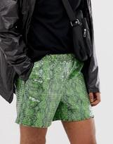 Asos Design DESIGN festival slim shorts with snake print in sequins