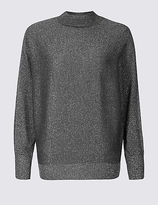 M&S Collection Sparkly Turtle Neck Jumper