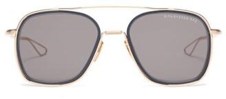 Dita Eyewear System One Aviator Titanium And Acetate Sunglasses - Mens - Black