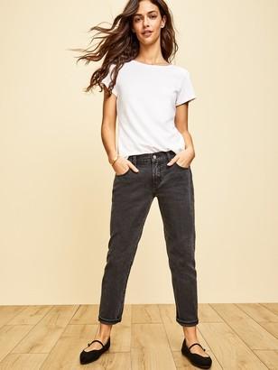 Old Navy Mid-Rise Boyfriend Straight Black Jeans for Women