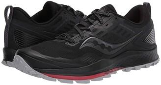 Saucony Peregrine 10 (Black/Red) Men's Shoes