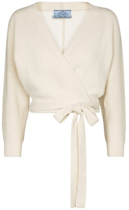 Prada Cropped wool and cashmere cardigan