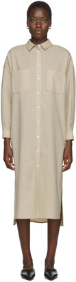 BEIGE Arch The Shirt Dress
