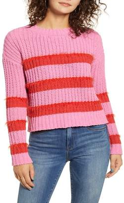 Love by Design PLACED STRIPE SWEATER