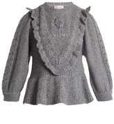 Redvalentino Balloon-sleeved Wool-blend Sweater
