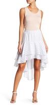 Flying Tomato Stripe Ruffle Skirt