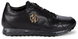 Roberto Cavalli Men's Perforated Trainer Sneakers