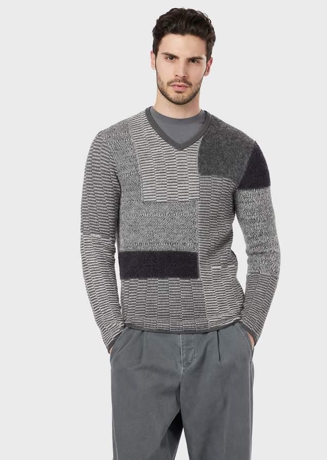 ab4f7839e5 Multi-Knit Patchwork Sweater