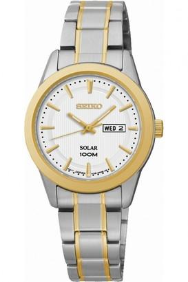 Seiko Ladies Dress Solar Powered Watch SUT162P1