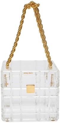 Cult Gaia 'Phaedra' clear acrylic top handle box bag