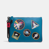 Coach Turnlock Wristlet 30 In Glovetanned Leather With Space Patches