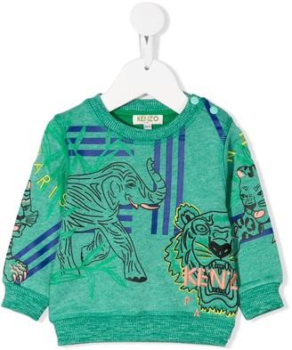Kenzo Kids Animal-Print Sweatshirt