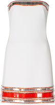 David Koma Strapless Embroidered Dress