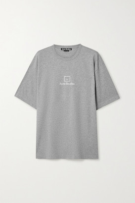 Acne Studios Printed Cotton-jersey T-shirt - Gray