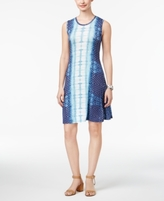 Style&Co. Style & Co Style & Co Petite Mixed-Print Swing Dress, Created for Macy's