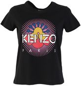 Kenzo Logo Print Black Cotton T-shirt