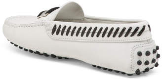 Made In Italy Leather Driving Moccasin