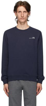 A.P.C. Navy Logo Sweatshirt
