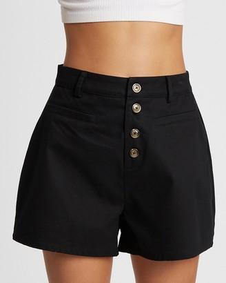 Calli - Women's Black High-Waisted - Shani Shorts - Size 6 at The Iconic