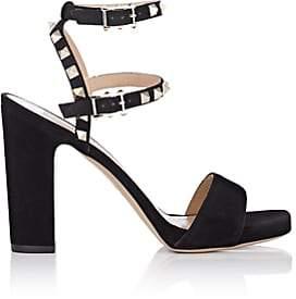 Valentino Women's Rockstud Suede Platform Sandals - Black