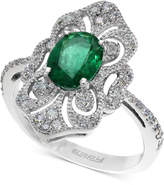 Effy Brasilica by Emerald (1-1/8 ct. t.w.) and Diamond (1/3 ct. t.w.) Ring in 14k White Gold