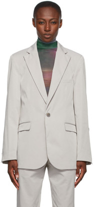 Serapis Grey Nylon Blazer