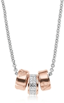 Emporio Armani Heritage Sterling Silver PVD Rose Goldtone Charms Necklace
