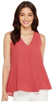 Vince Camuto Sleeveless V-Neck Drape Front Blouse Women's Blouse