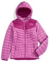 The North Face 'Reversible ThermoBall TM ' Hooded PrimaLoft ® Jacket (Big Girls)